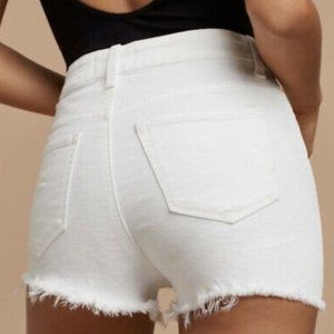 Talula White Jean Shorts